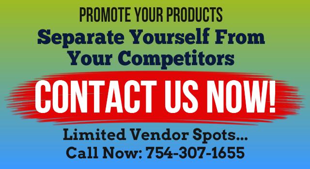 Vendor Spots Call 954-609-1604
